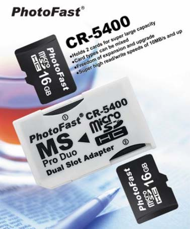 Photofast MS Pro Duo Dual Slot MicroSD Adapter CR-5400