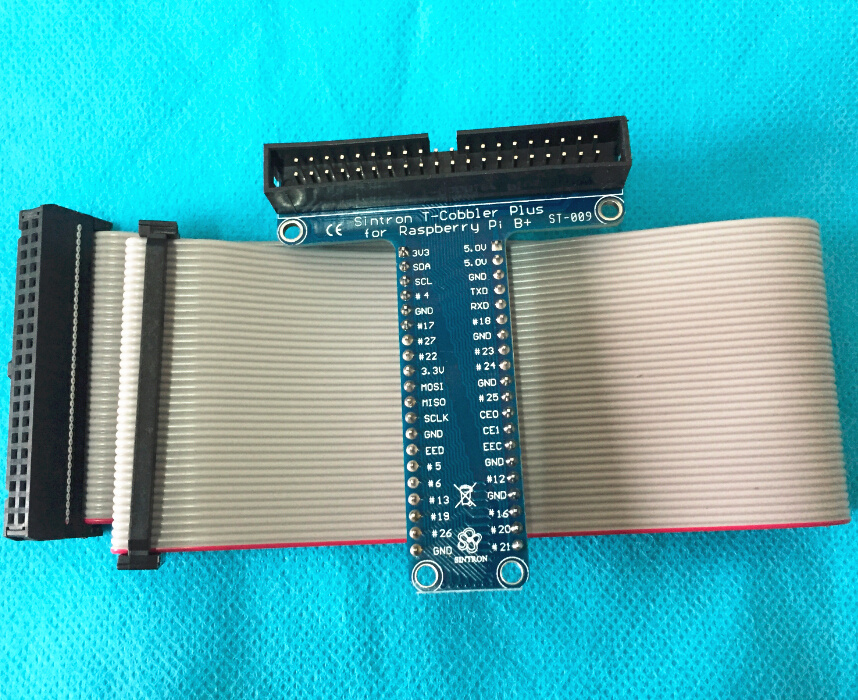 Raspberry Pi cobbler, expansion DIY kit (extension cable + GPIO adapter plate)