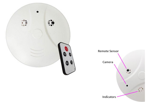 Covert Smoke Detector Spy Camcorder HD