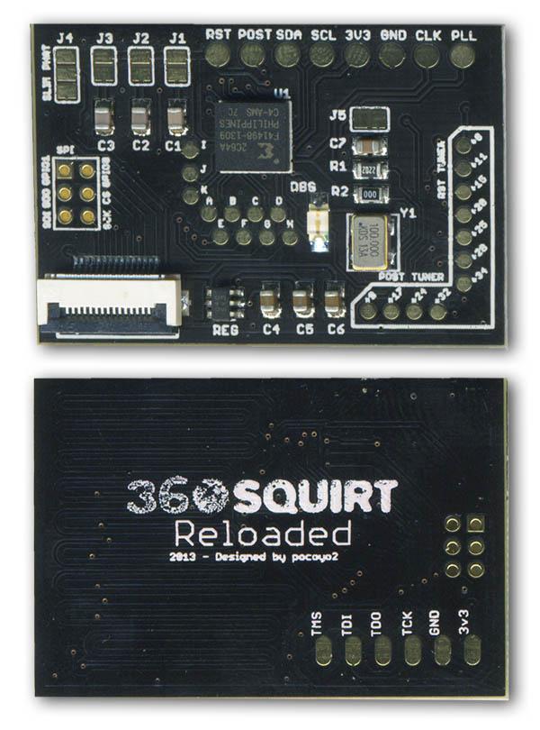 Squirt 360 RELOADED BGA JTAG Board V2.1 100MHz Glitcher/RGH