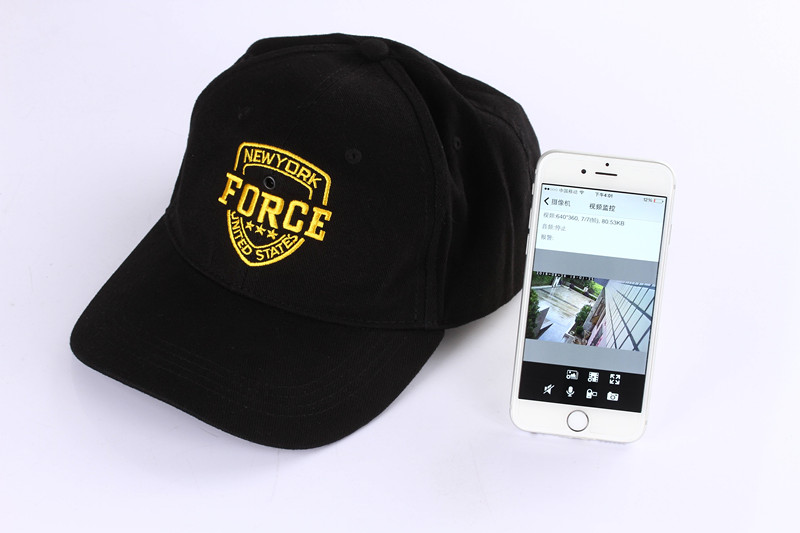 Wearable Spy Camera wifi in Baseball Cap Camera Fashionable Hat Camera