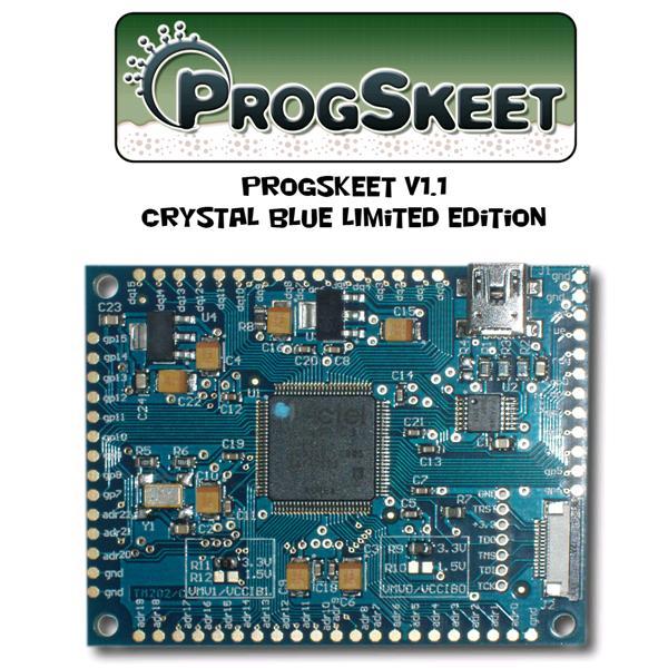 PROGSKEET V1.1 Crystal Blue - NAND and NOR reader/writer