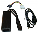 Molex External Power Supply Adapter 12V + Bonus Wall Power Cable + Molex to Sata Power Adapter
