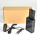 Portable All Bands Cell Phone 3G 4G Jammer & WIFI GPS Jammer 8 Antennas