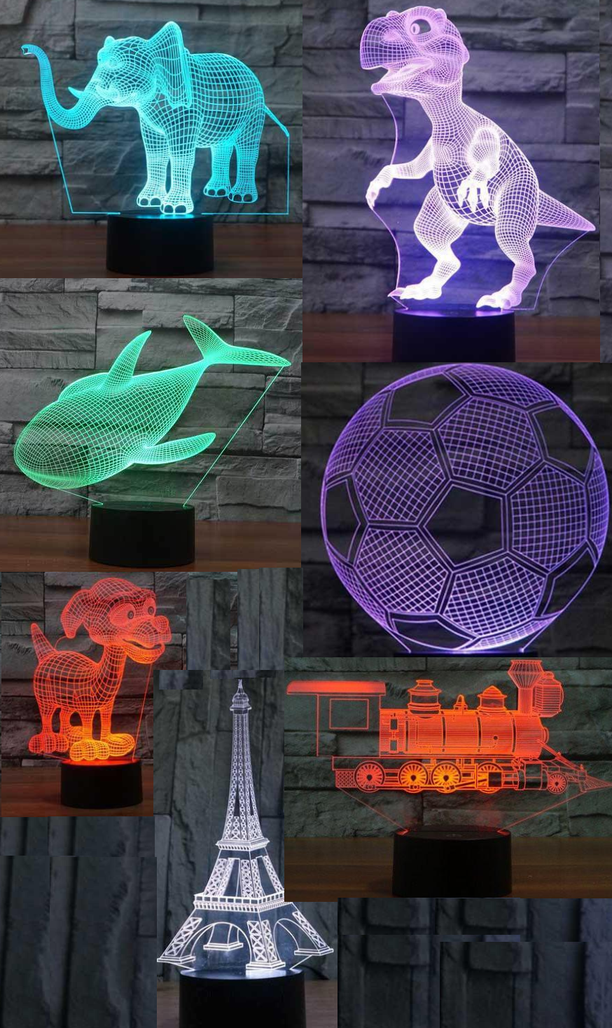 3D ILLUSION LAMPS