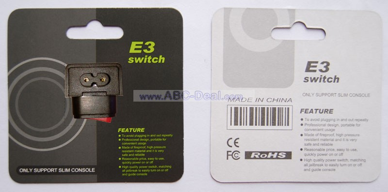 E3 PS3 SLIM Power Switch