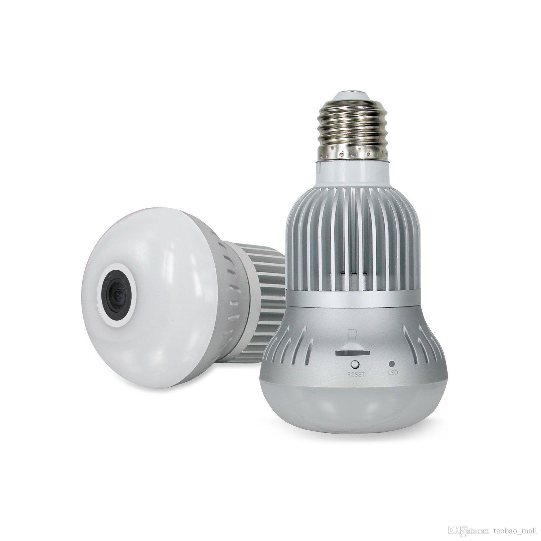 WIFI IP Camera 360° HD Light Bulb Spy Camera IR Night Vision Motion Detection Home Security Surveillance Camera