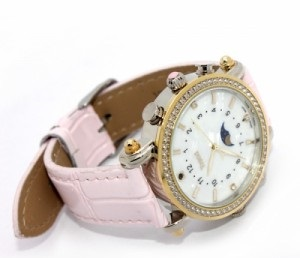 Ladies Pink Hidden Night Vision WiFi Spy Watch Camera