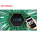 7 Colors Mirror Electronic Clock Spy Camera HD Video Wifi Night vision