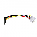 SATA 15-pin Female to Molex 4-pin Male Power Adapter
