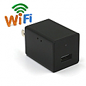 1080P WIFI Spy Camera AC Plug USB Wall Charger Support iPhone / Android APP