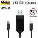 1080P 32GB Spy USB Cable Camera Phone Charge Cable Motion Detection Video recorder Camcorder